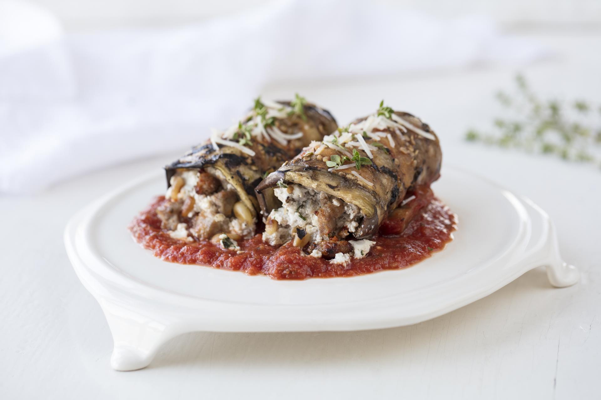 Eggplant Rollatini with Herbs de Humboldt®