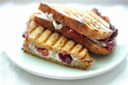 Humboldt Fog® and Roasted Grape Panini