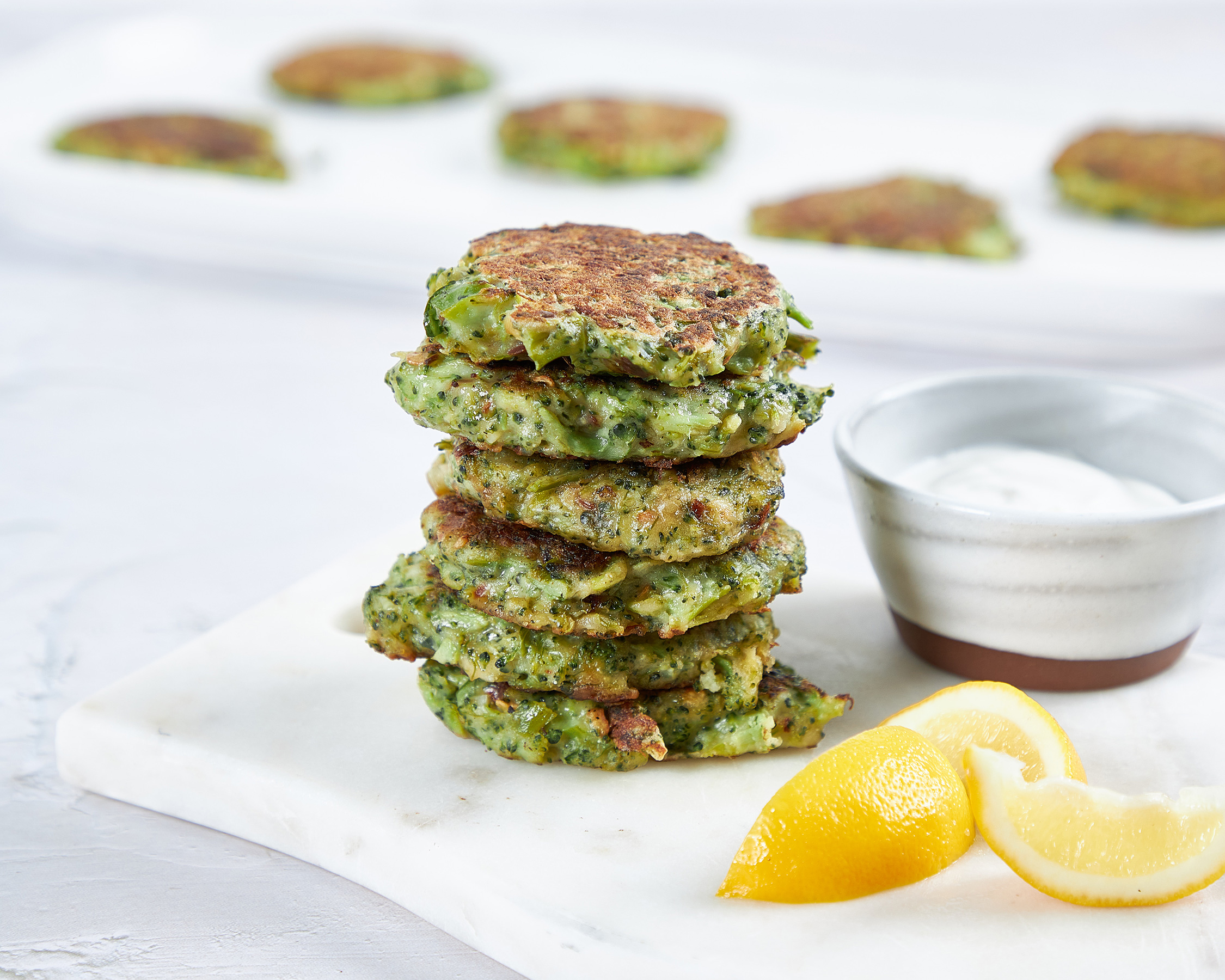 Broccoli + Midnight Moon® Fritters